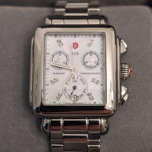 Michele Deco Diamond Dial Watch
